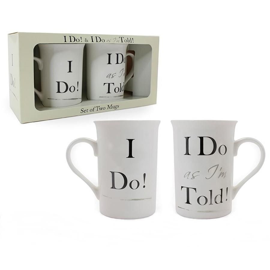 I Do, I Do As I'm Told Set Of Mugs