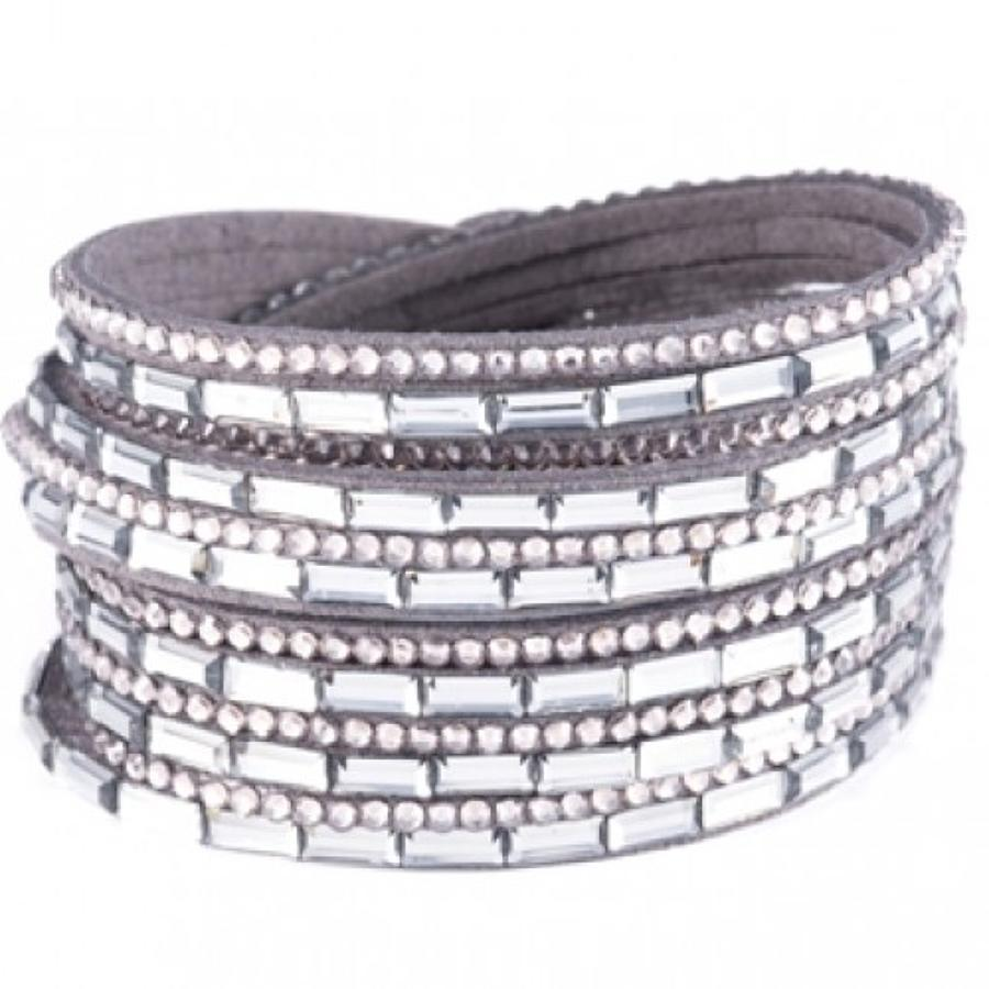 Wrap Around Facetted Stone Bracelet