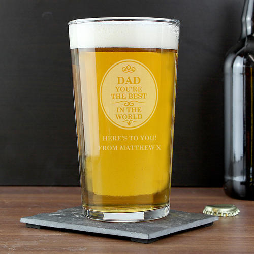 Personalised The Best in the World Pint Glass