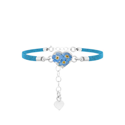 Sterling Silver Forget-Me-Not Corded Bracelet