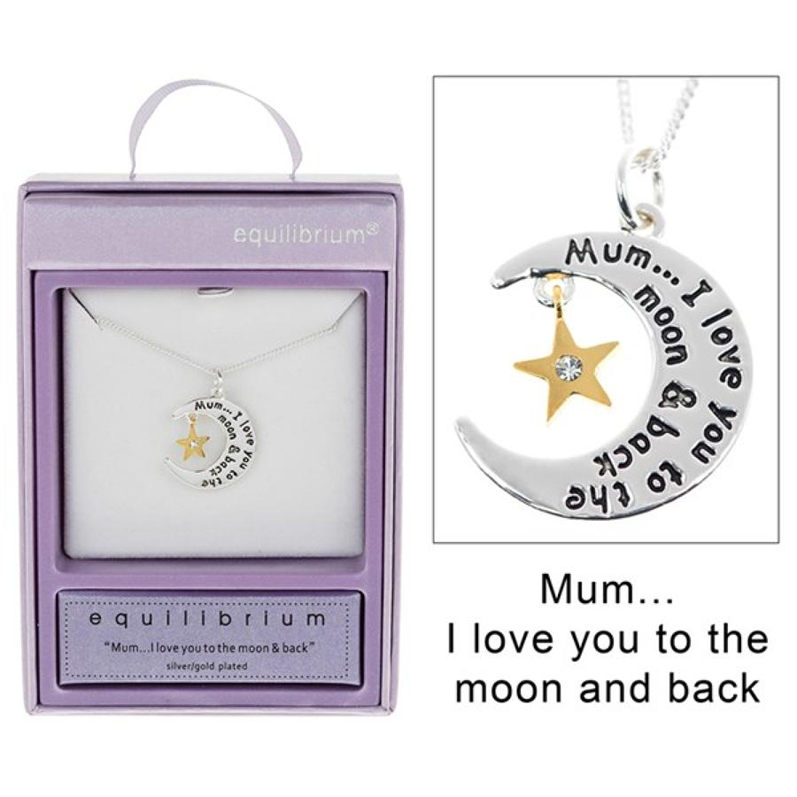 Mum....I Love You To The Moon & Back Necklace