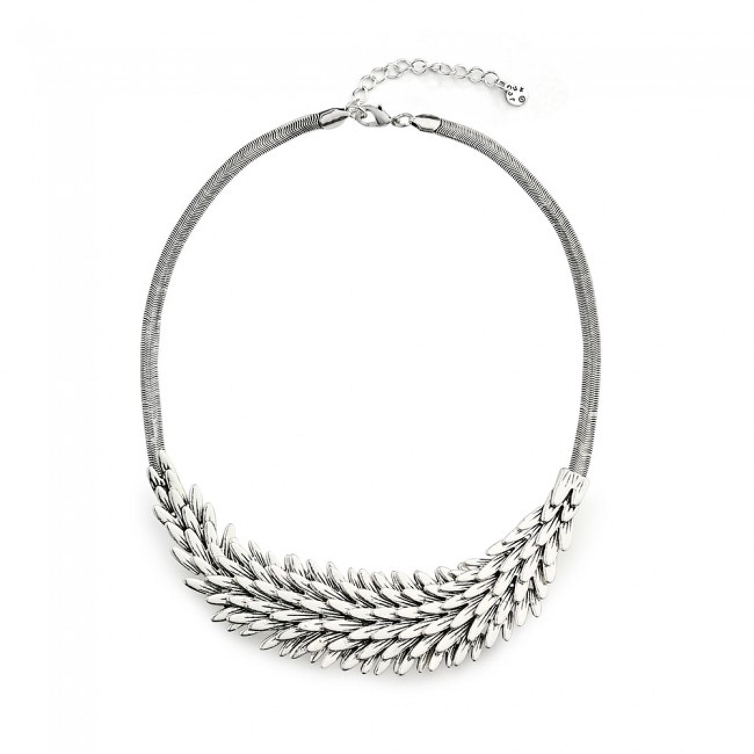 Oxidised Silver Plated Hedghog Necklace Set