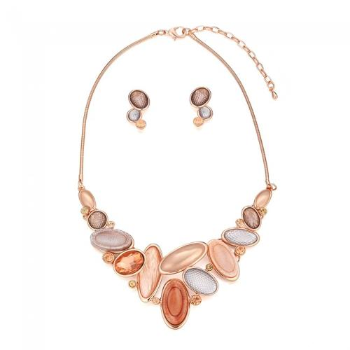 Autumnal Coloured Necklace & Earring Set