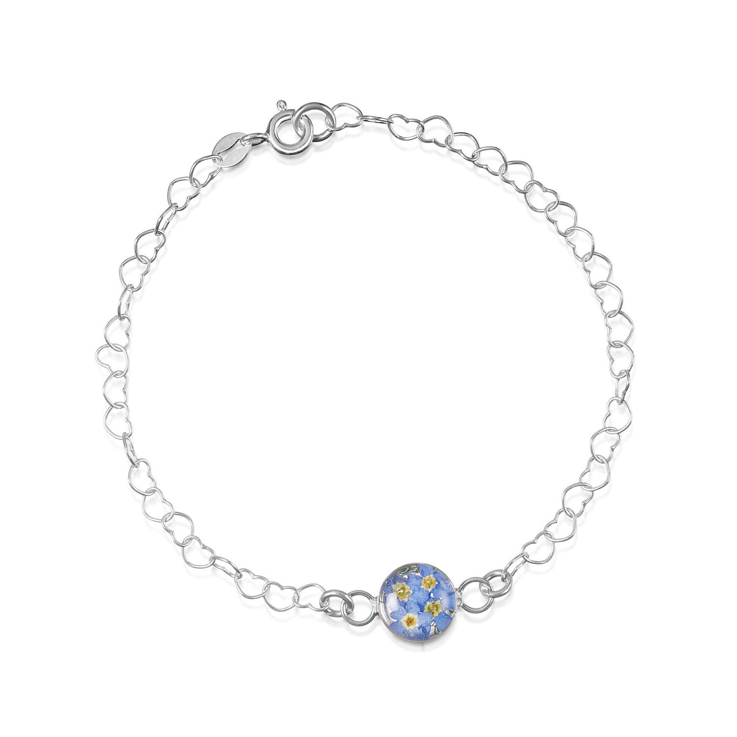 Sterling Silver Forget-Me-Not Bracelet