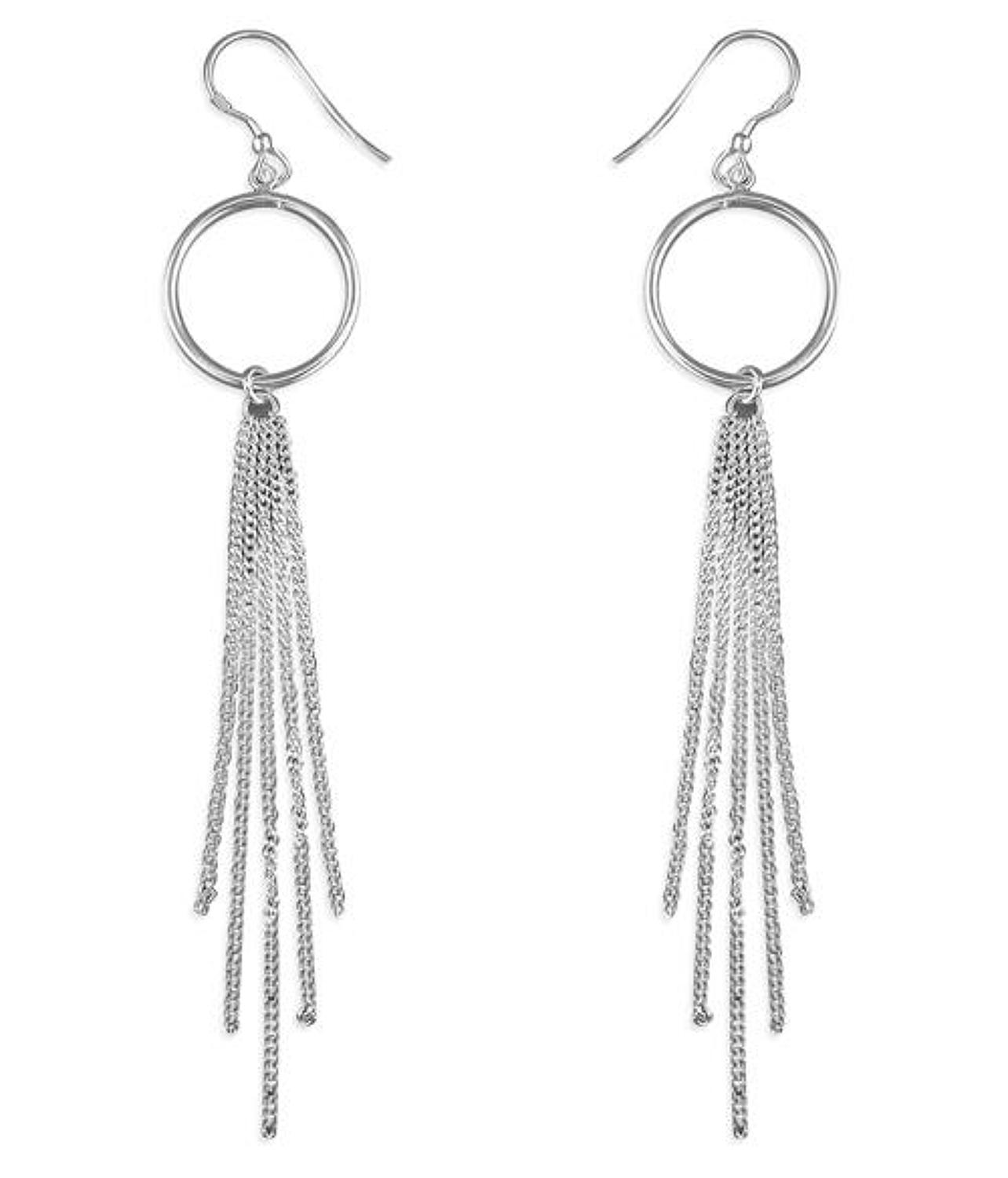 Sterling Silver Tassel Drop Earrings