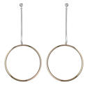 Sterling Silver & Rose Gold Plated Large Circle Drops - picture 1