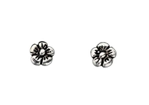 Sterling Silver Small Flower Stud Earrings