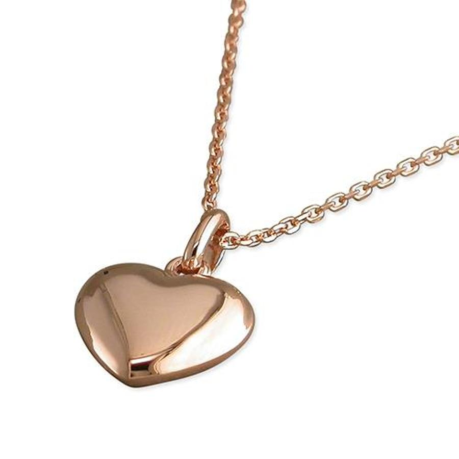 Sterling Silver & Rose Gold Plated Heart Pendant