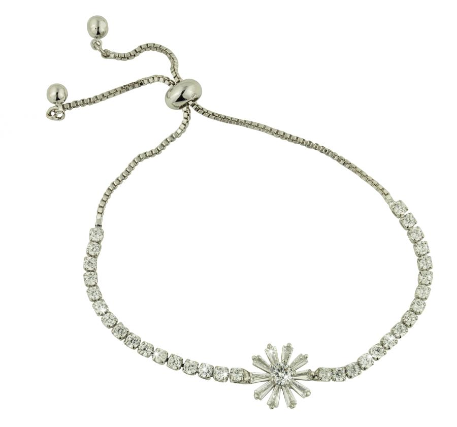 Snowflake Adjustable Toggle Bracelet