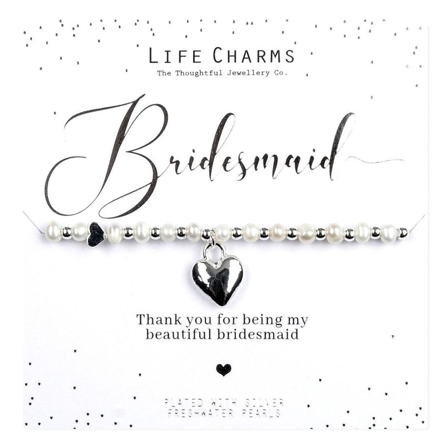 Bridesmaid Thank You Pearl Bracelet