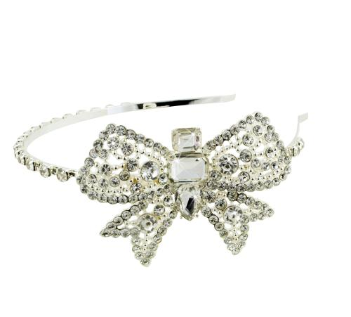 Crystal Side Bow Headband