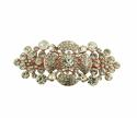 Rose Gold Plated White Crystal Hair Clip - picture 1