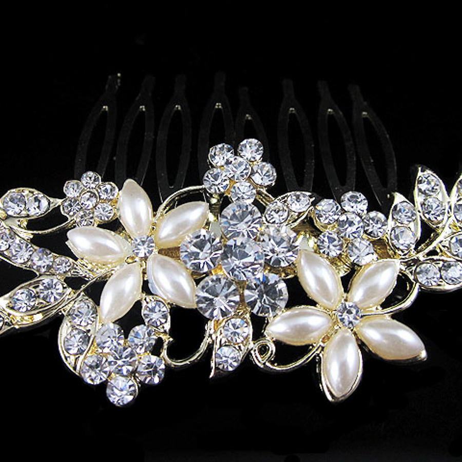 Floral Small Hair Comb
