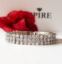 Silver Plated Diamante 3 Row Tennis Bracelet - picture 1