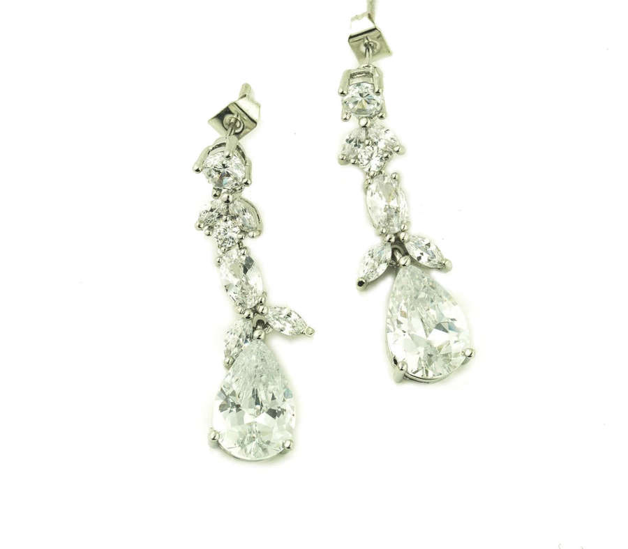 Crystal Teardrop fancy drop Earrings
