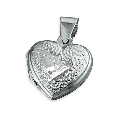Sterling Silver Patterned Heart Locket
