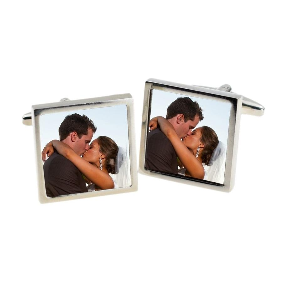 Bespoke Large Square Photo Cufflinks
