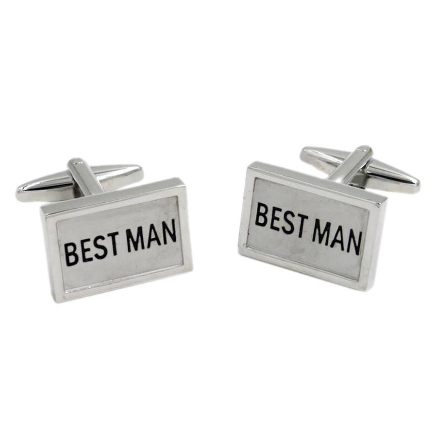 Rectangular Best Man Wedding Cufflinks