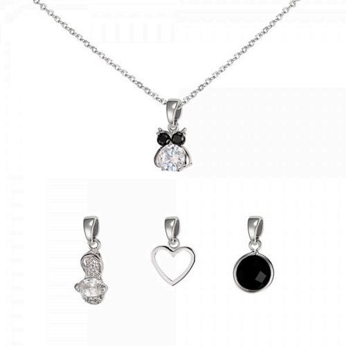 Interchangeable Charm Pendant - 4 pendants set
