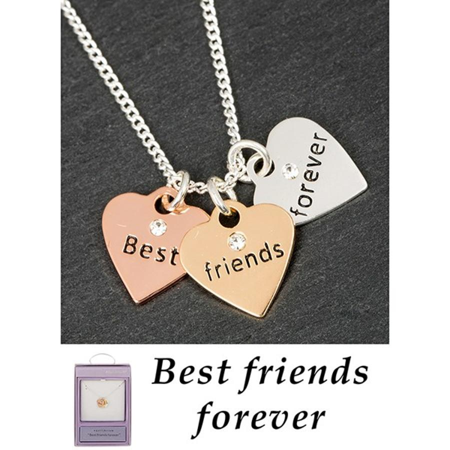 Best Friends Forever Triple Heart Necklace