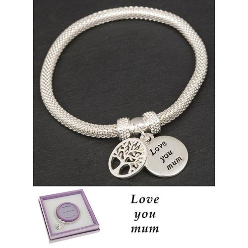 Love You Mum Tree Of Life Bracelet