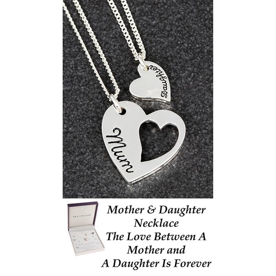 Mum & Daughter Double Heart Necklace