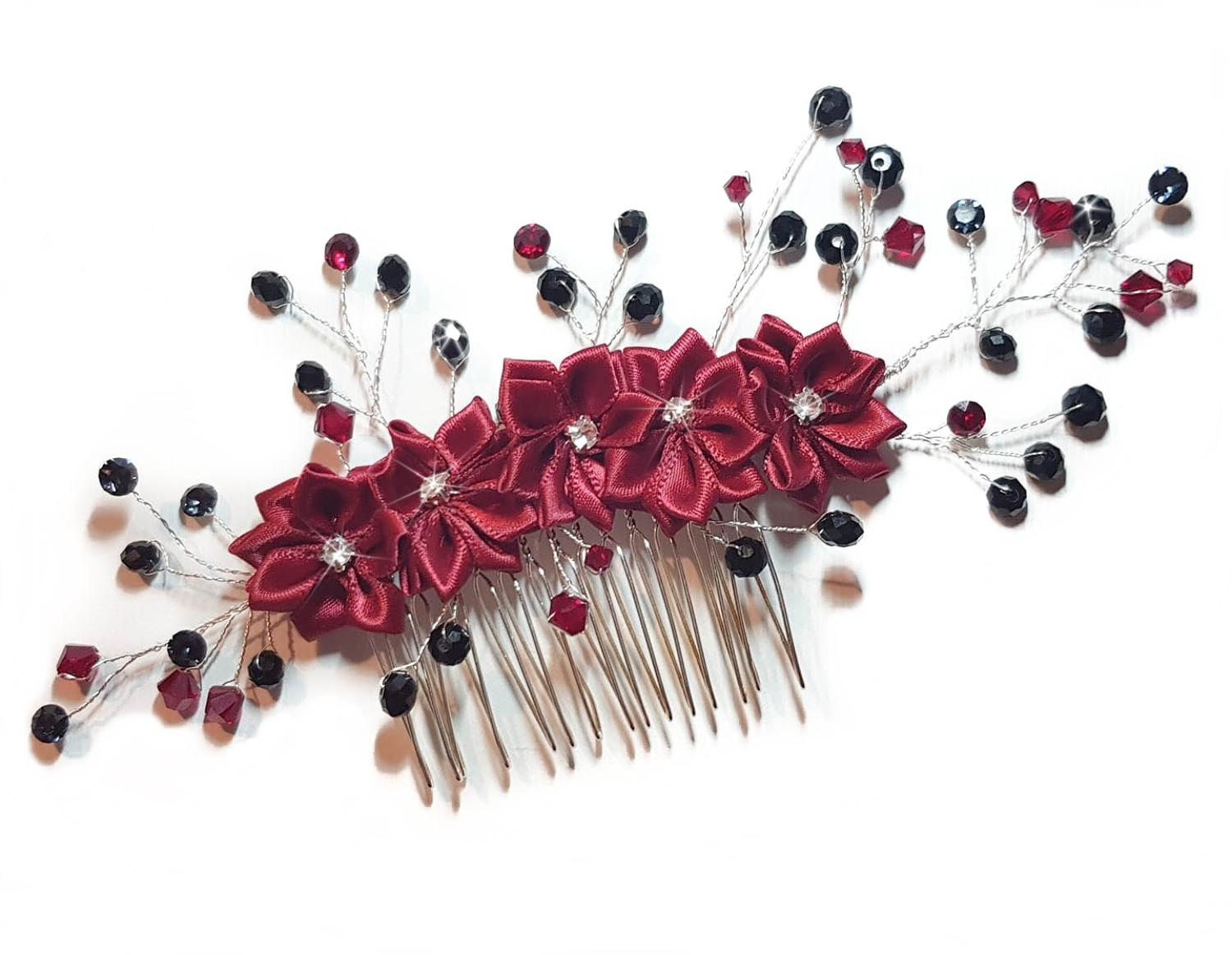Bespoke Flower Hair Comb - Made To Order
