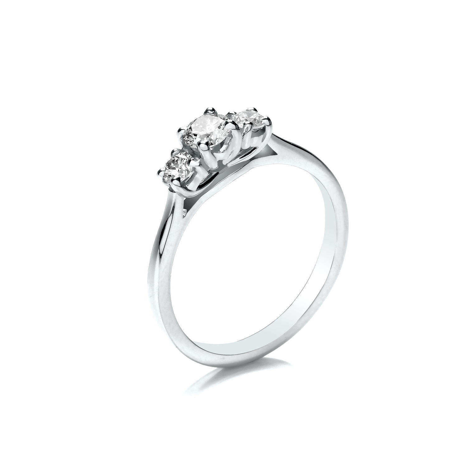 0.45ct Trilogy Ring With Graduated Stones