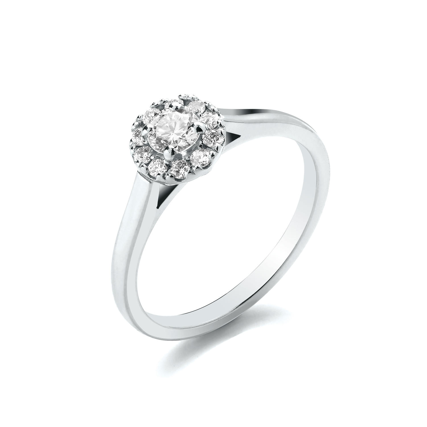 0.40ct Cluster Ring