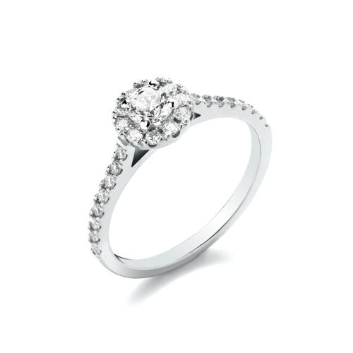 0.64ct Cluster Ring With Stone Set Shoulders