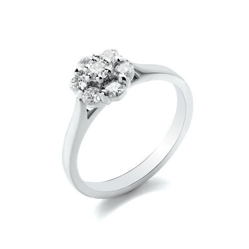 0.50ct Daisy Cluster Ring