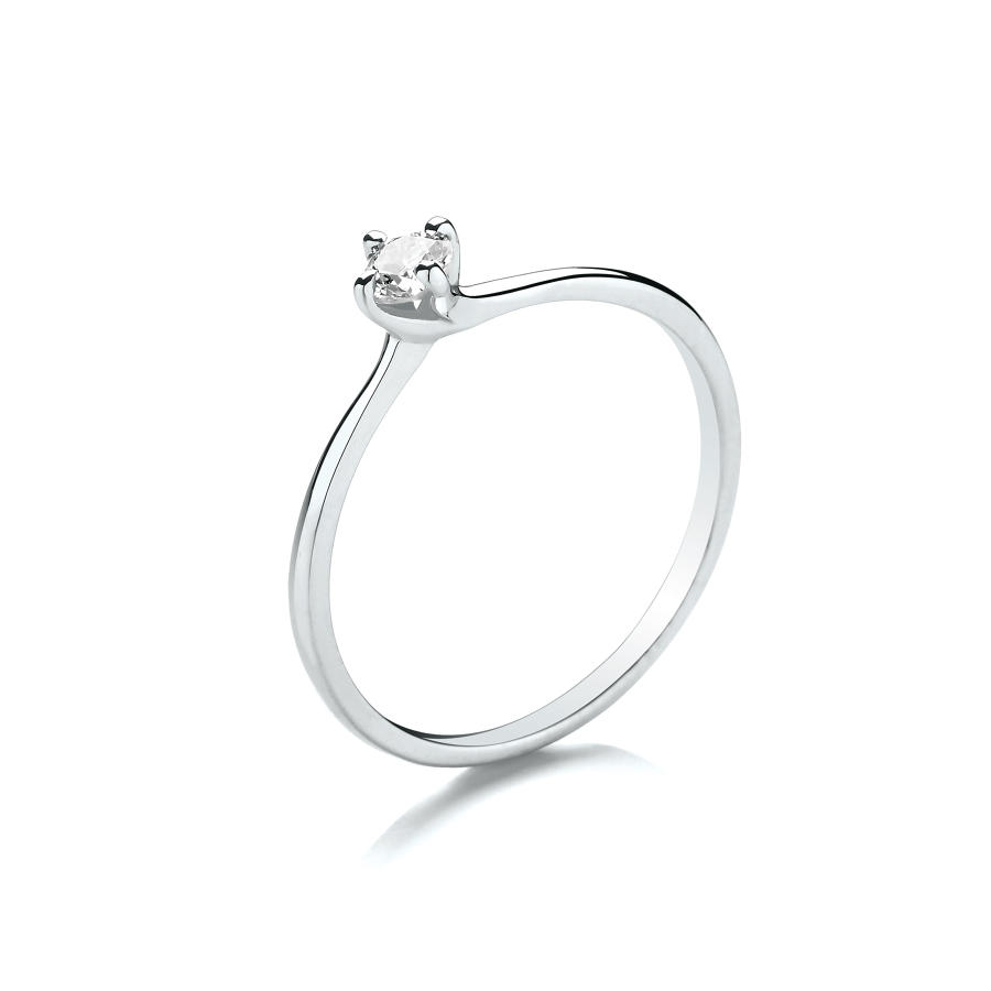0.15ct Solitaire Diamond Ring Twist Setting
