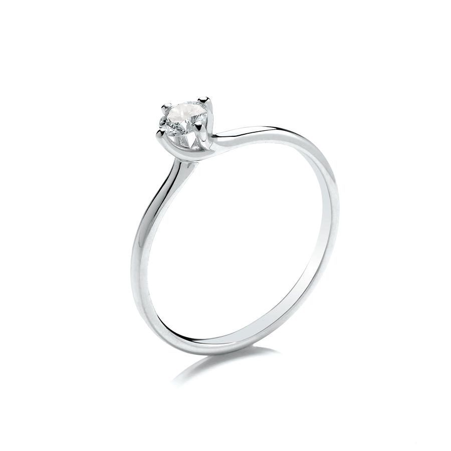 0.25ct Solitaire Diamond Ring Twist Setting