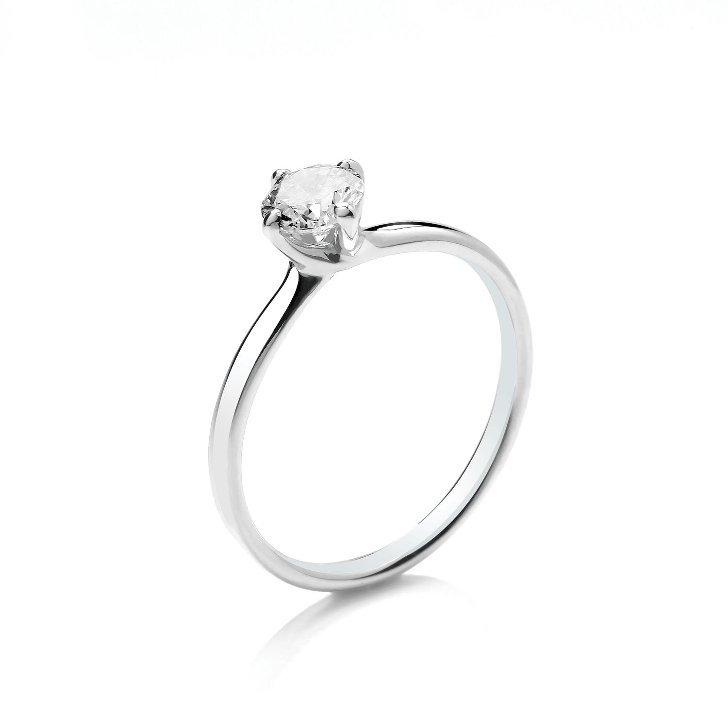 0.50ct Solitaire Diamond Ring Twist Setting