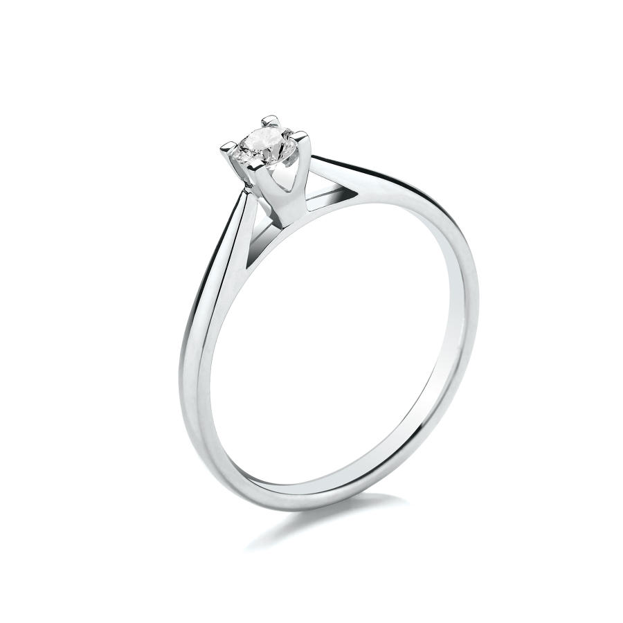0.15ct High Set Solitaire Diamond Ring