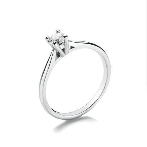0.25ct High Set Solitaire Diamond Ring