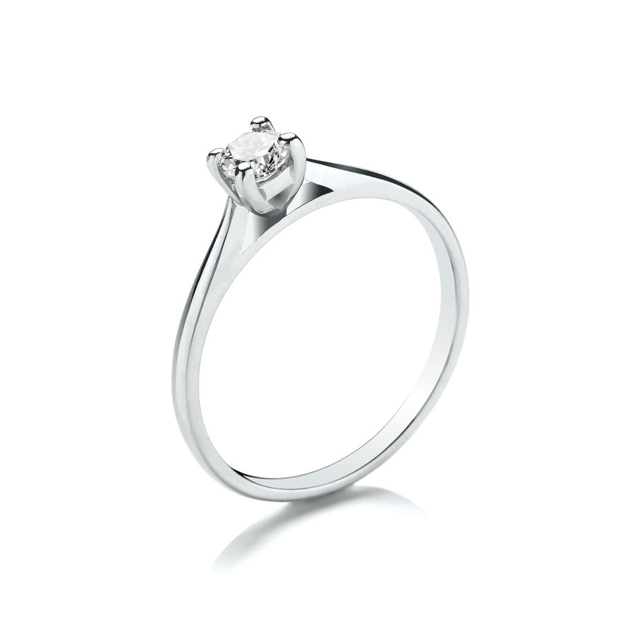 0.25ct Cupped Claw Set Solitaire Diamond Ring