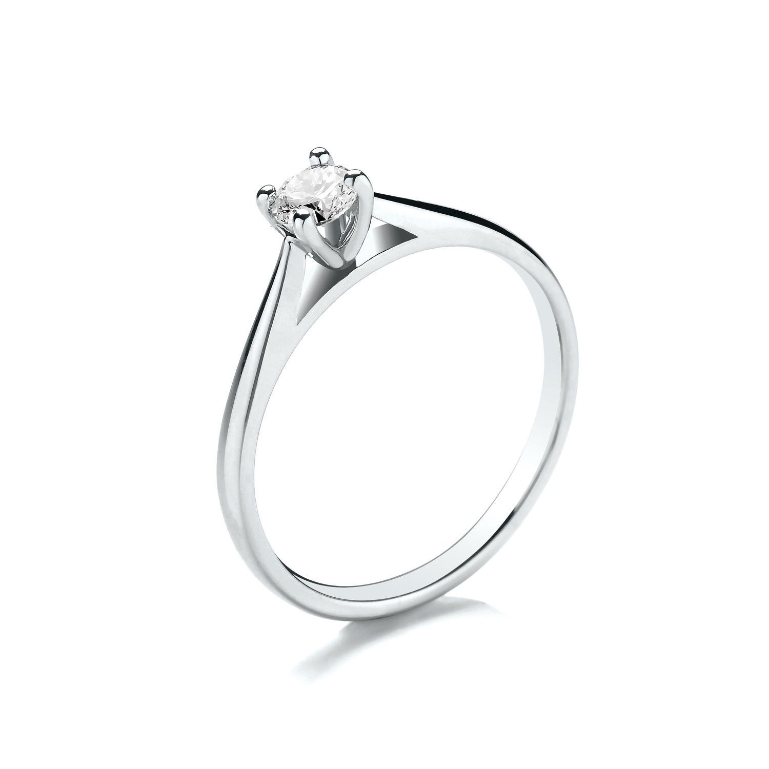 0.15ct Tulip Set Solitaire Diamond Ring