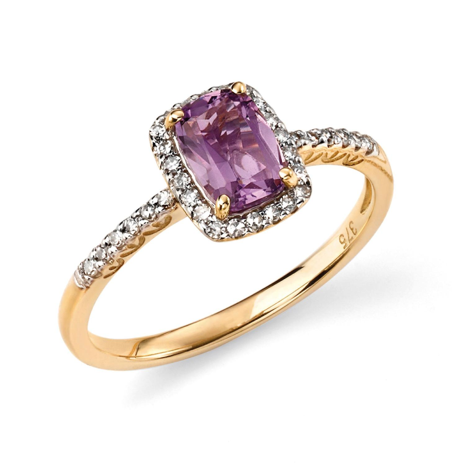 Amethyst/Diamond Ring