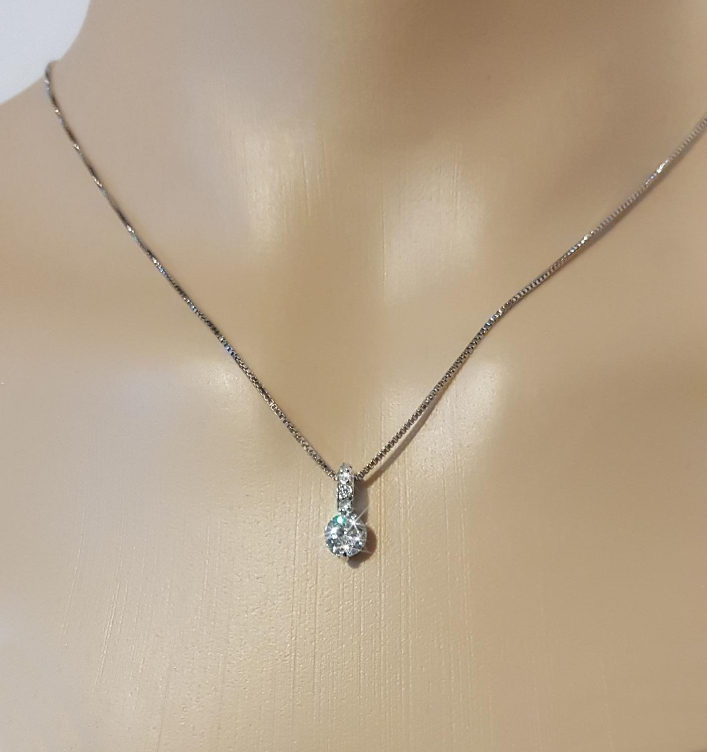 Crystal Classic Solitaire Pendant & Earring Set