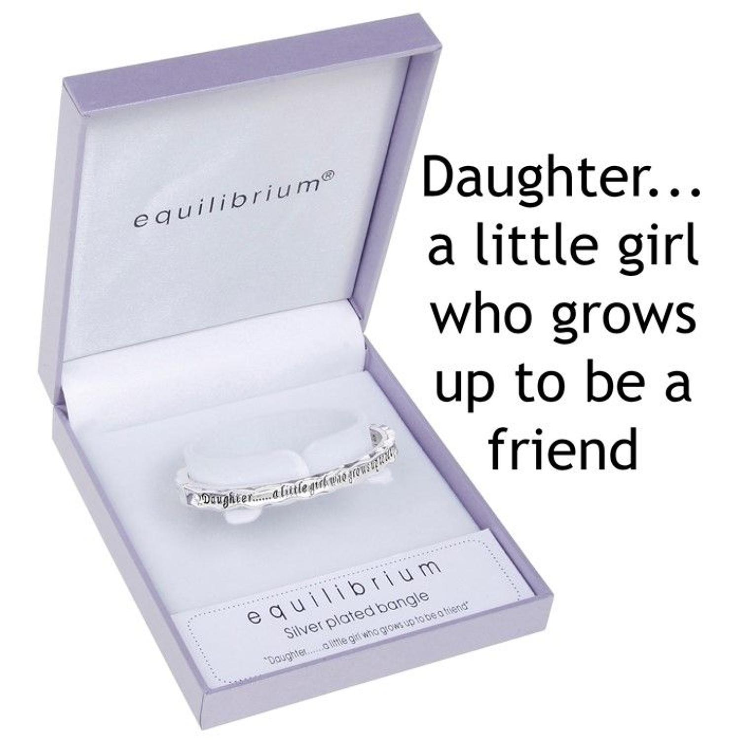 Silver Plated Daughter Bangle
