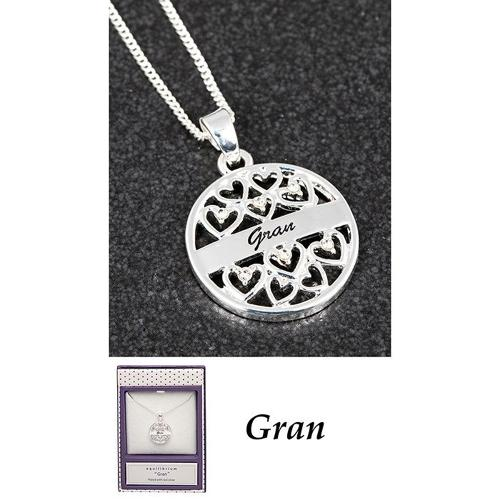 Silver Plated Filigree 'Gran' Necklace