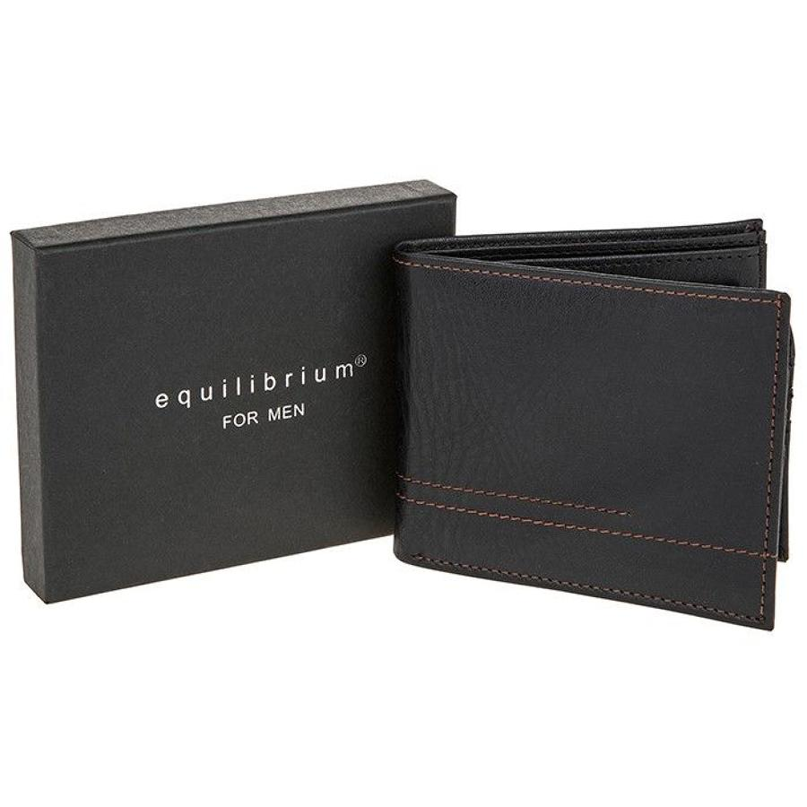 Black Contrast Men's Wallet
