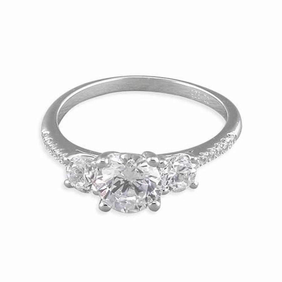 Sterling Silver 3st CZ Ring