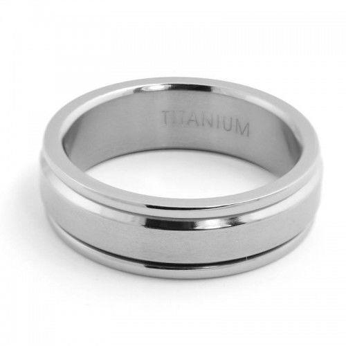 Titanium Band With Rotating Centre