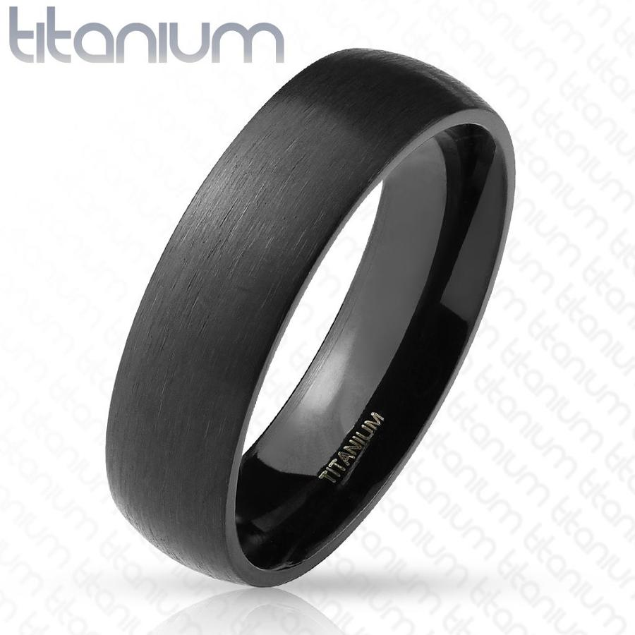 Black IP 6mm Titanium Court Ring