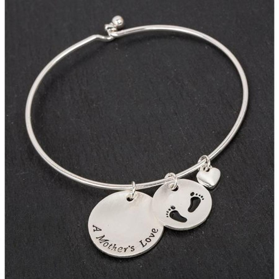 Silver Plated Mother's Love Bangle