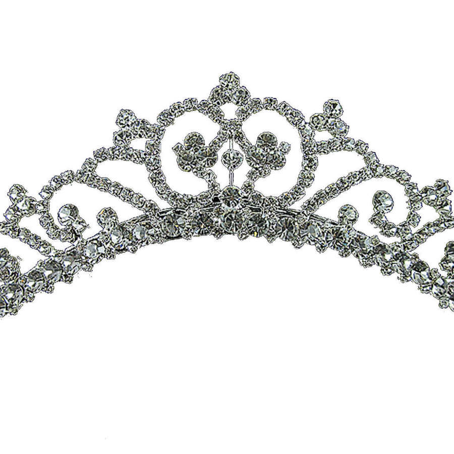 HAILEY Medium Crystal Tiara Comb
