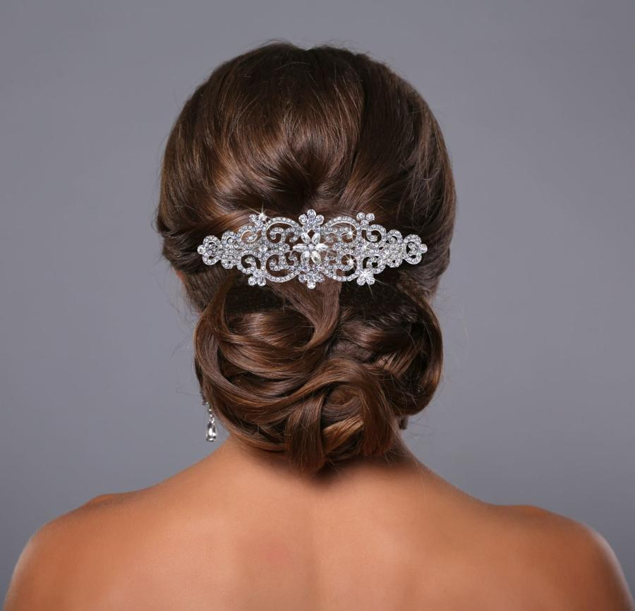Crystal intricate hair comb
