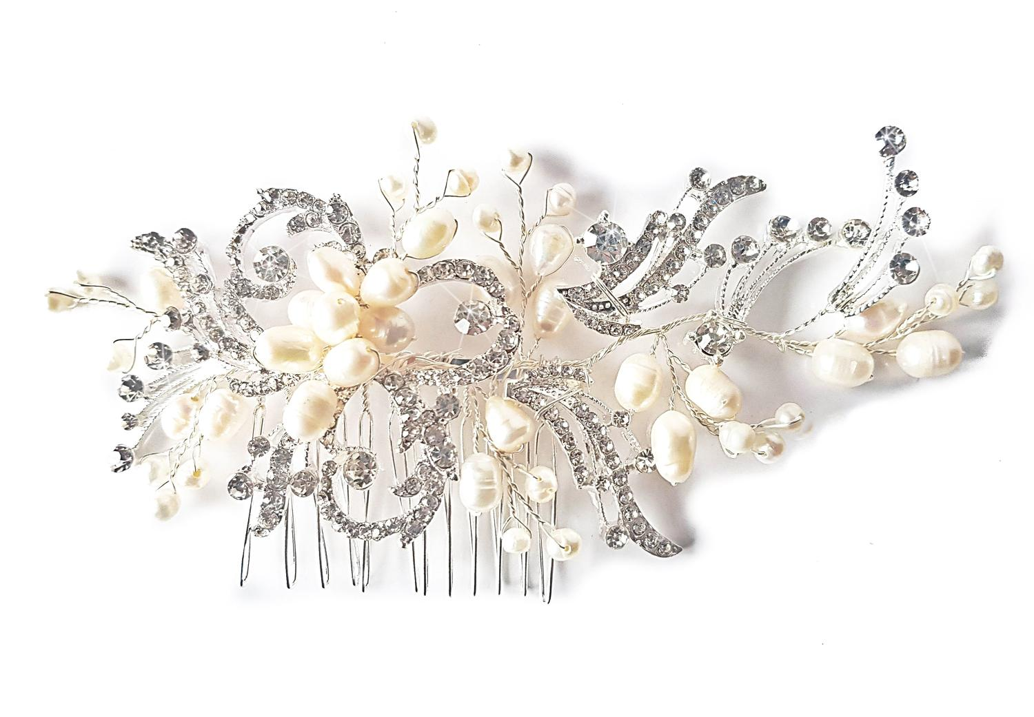 Pearl & Crystal Exquisite Hair Comb